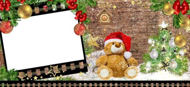 Новогодние рамки для фотошопа - бесплатный набор для скачивания