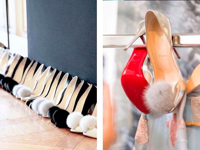 туфли с помпончиками