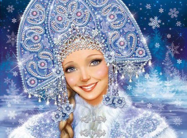 Трафареты вытынанки Снегурочка