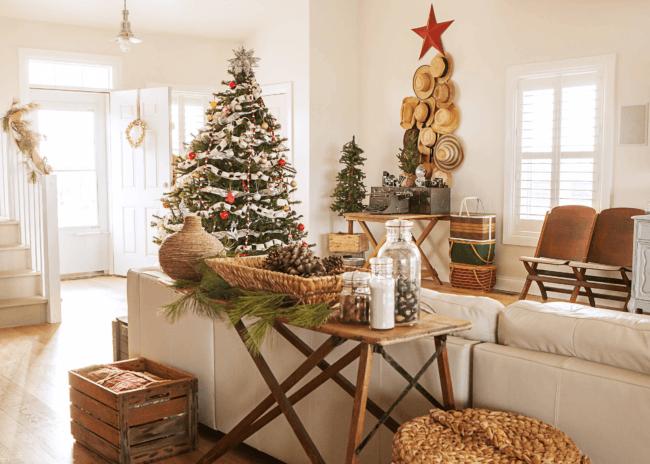 Как поставить елку в частном доме