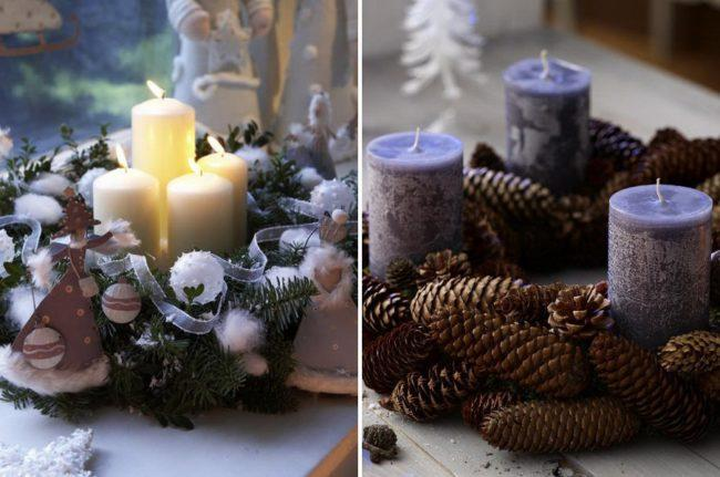зимний декор своими руками