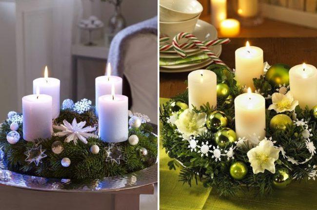 композиция из свечей