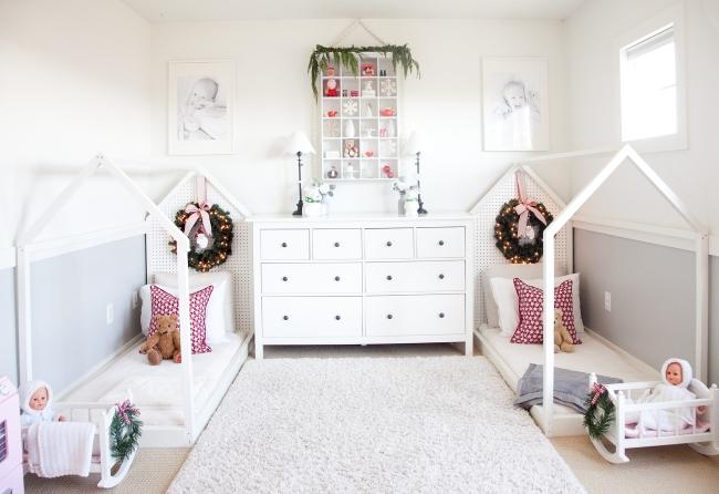 украшаем комнату для малышей на новый год