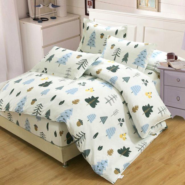 зимнее белье на кровать