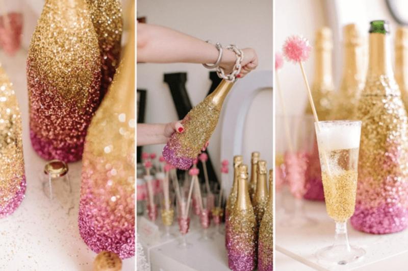 Как украсить шампанское на Новый год 2022