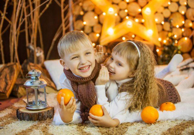 Веселые фанты для детишек на Новый год