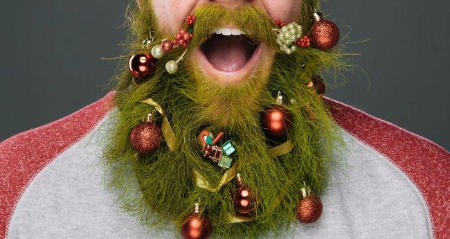 Как украсить бороду к новому году