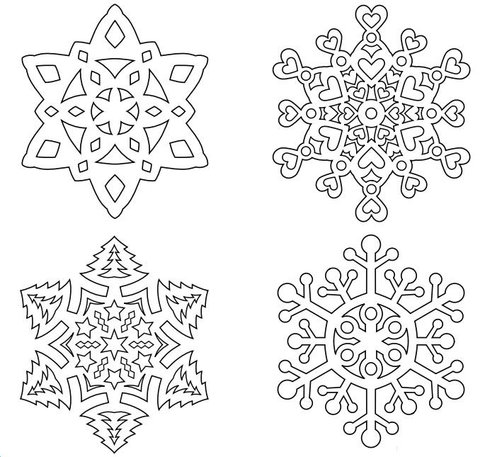 Схема елки-вытынанки