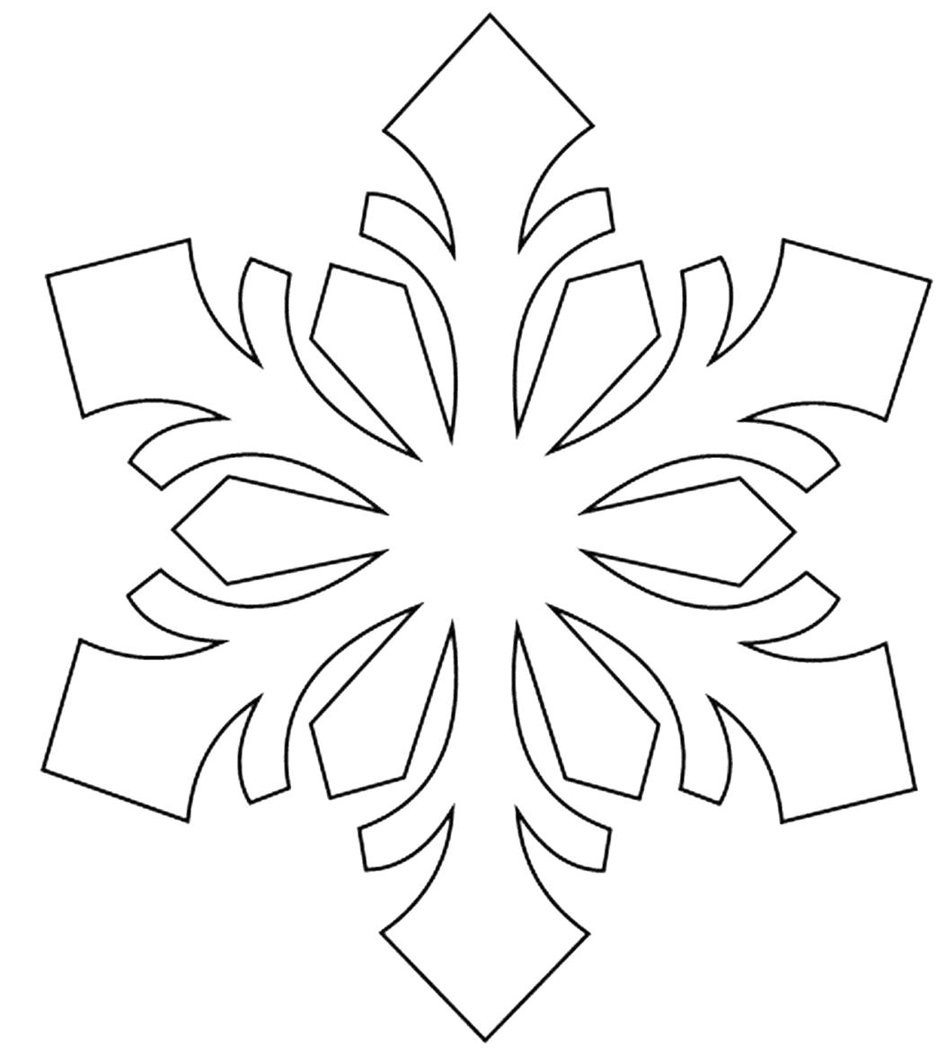 Трафарет снежинки для нового года