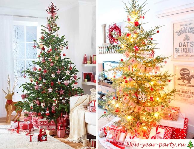 Новогодняя елка в стиле кантри