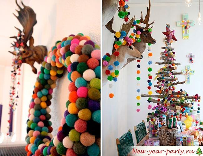 Новогодний декор в стиле Бохо-шик