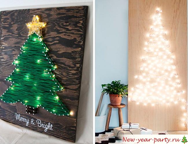 Картина с елкой