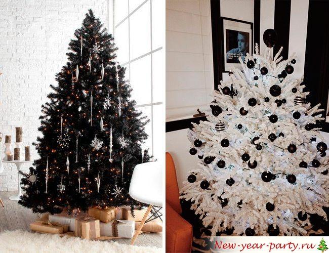 Черно-белая елка