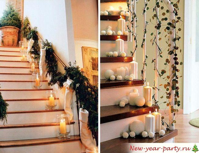 Декорирование свечами на Новый год