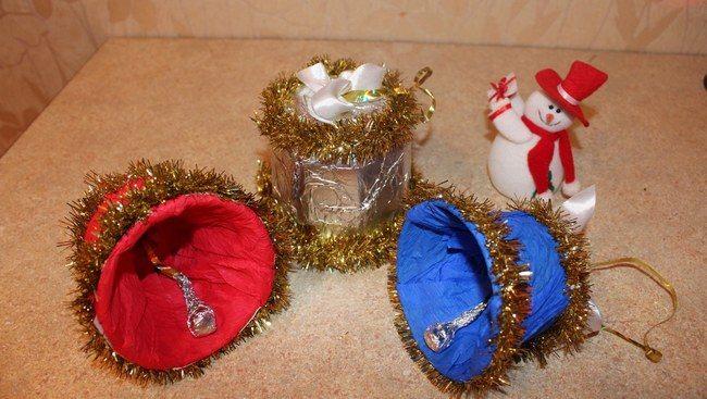 Колокольчики в виде новогодней игрушки