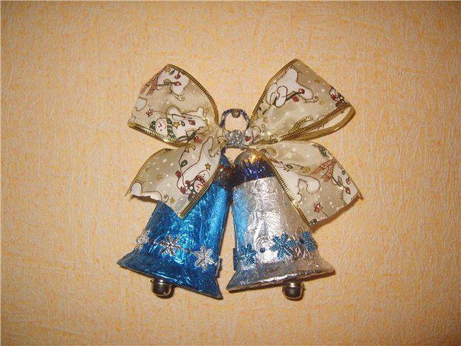 Новогодние колокольчики из подручных материалов