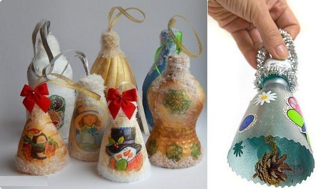 Расписываем бутылки для украшения