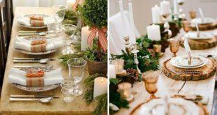 Рустикальный стиль декора стола