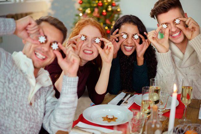 Новогодние конкурсы с едой