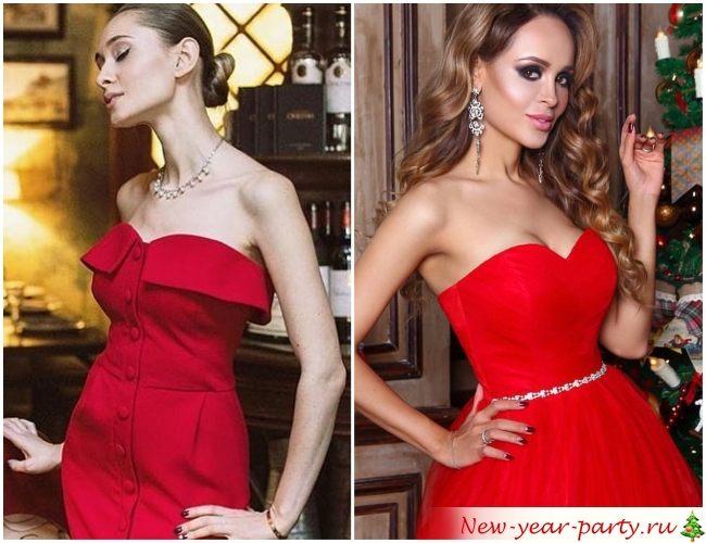 Новогодние фасоны платьев
