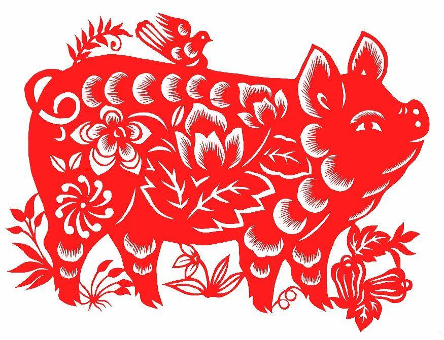 Вытынанки Свинья и Кабан на Новый год 2019: шаблоны на окна изоражения
