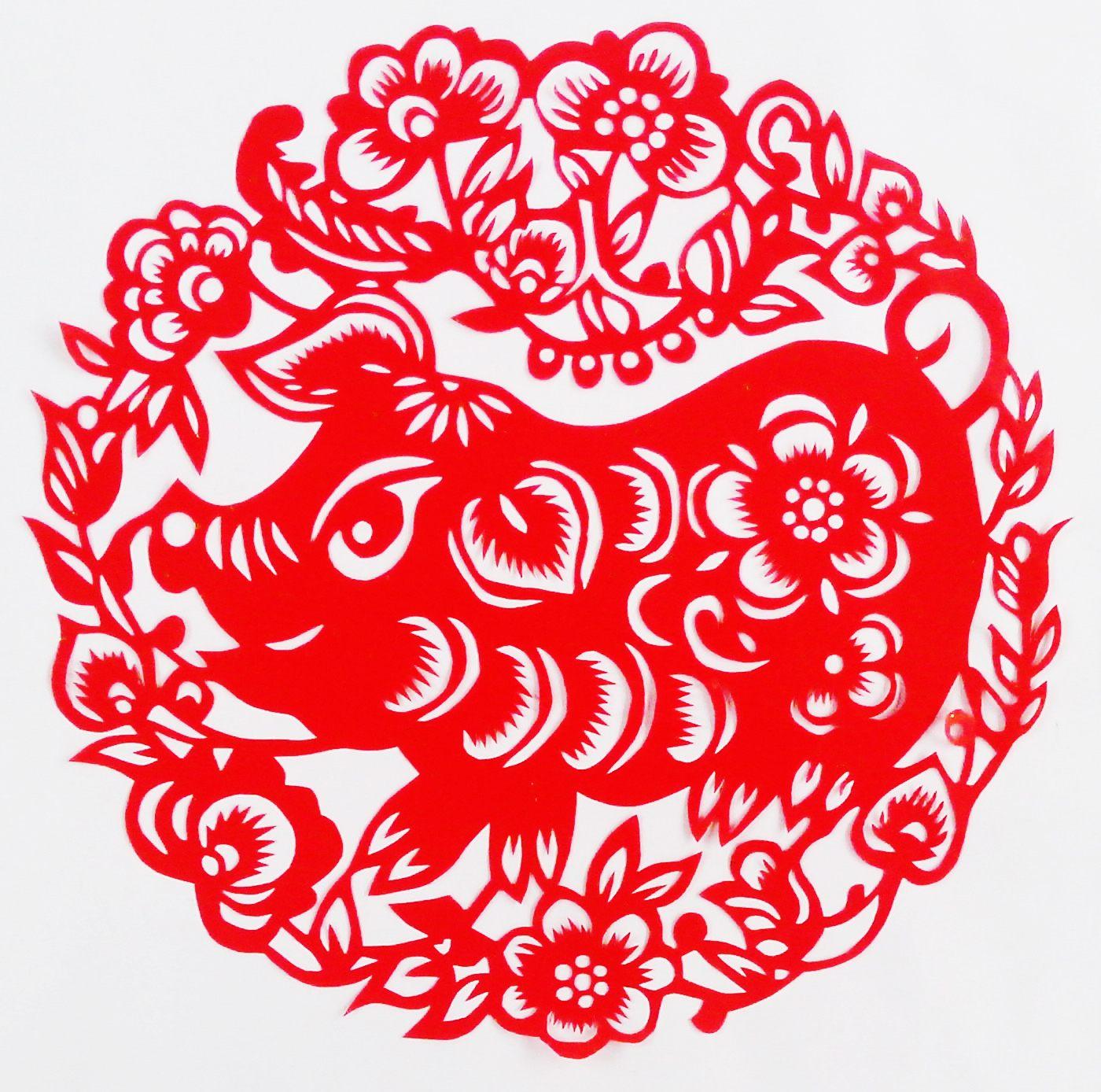Вытынанки Свинья и Кабан на Новый год 2019: шаблоны на окна картинки