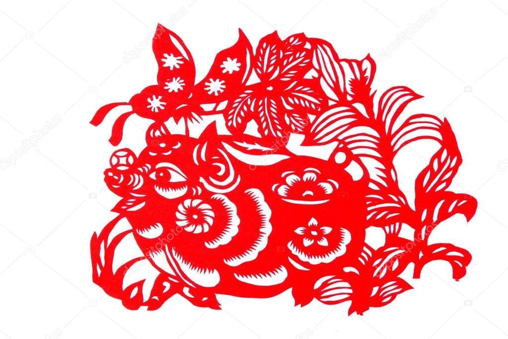 Вытынанки Свинья и Кабан на Новый год 2019: шаблоны на окна в 2019 году