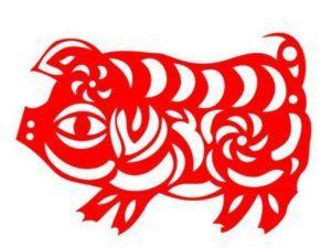 Вытынанки Свинья и Кабан на Новый год 2019: шаблоны на окна рекомендации