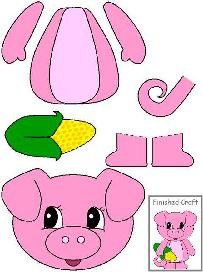 Бумажная поделка свиньи