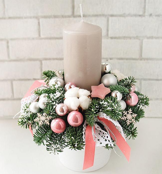 Декор свечи - отличный подарок своими руками