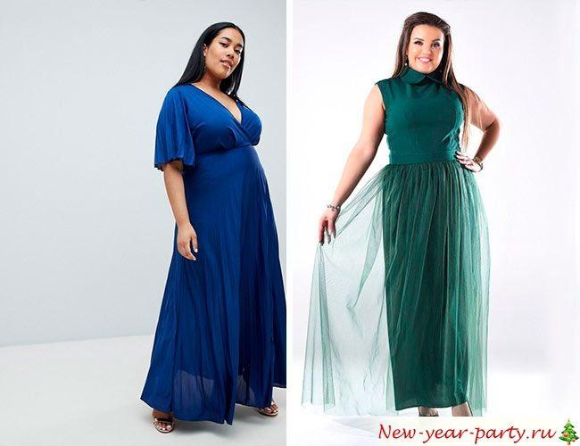 Длинные модели платьев