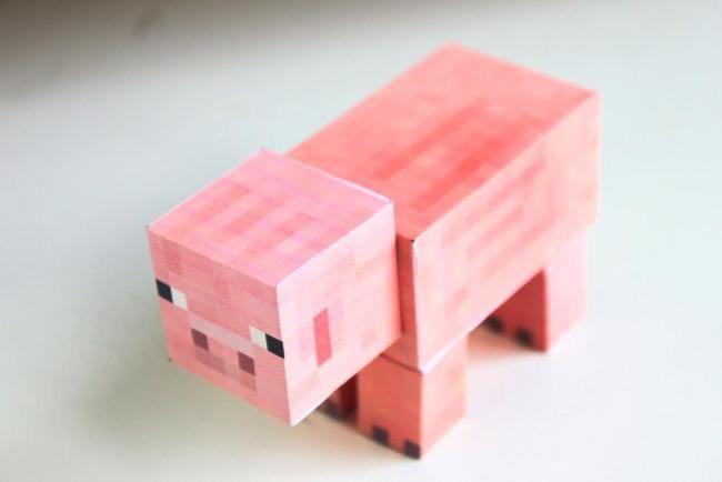 Как сделать свинью из майнкрафта