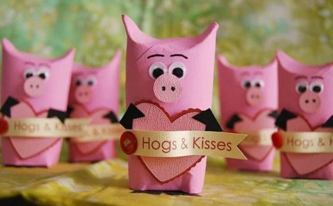 Свинья из бумаги