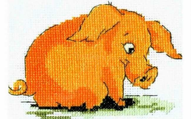 Вышитая Свинья