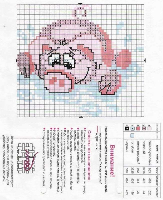 схема крестом свинья