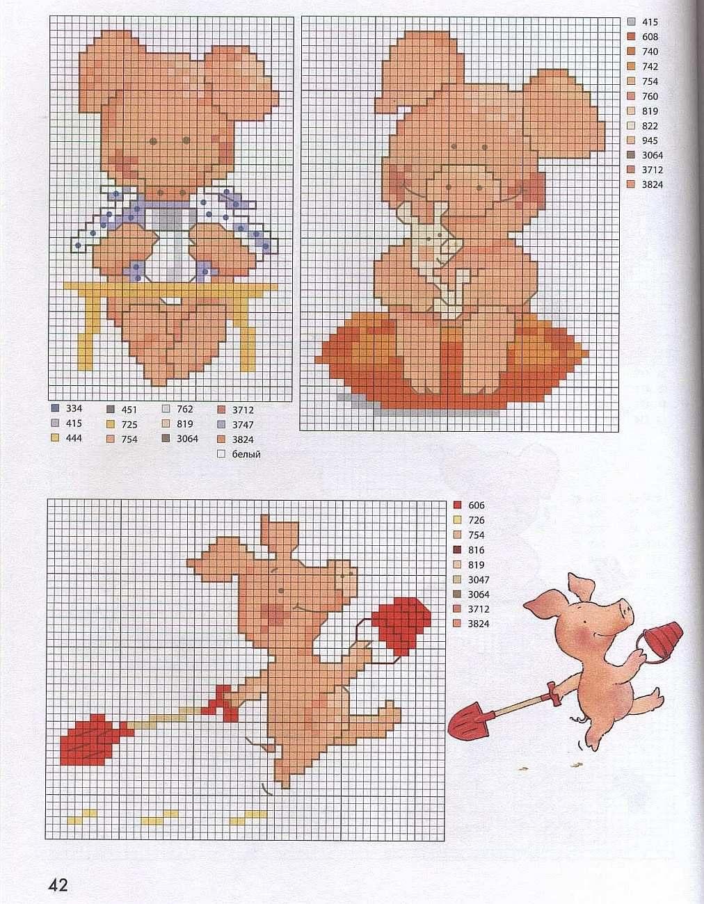 Схемы вышивки Свиньи крестом, 25 новогодних схем рекомендации