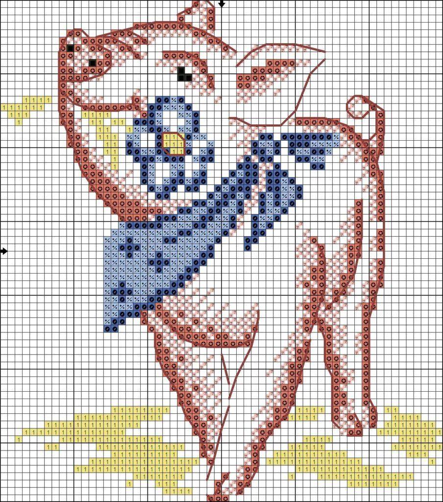 Схемы вышивки Свиньи крестом, 25 новогодних схем