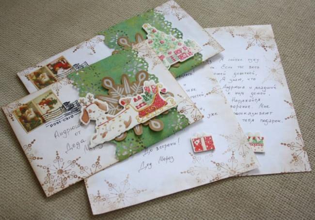 Новогодний конверт своими руками