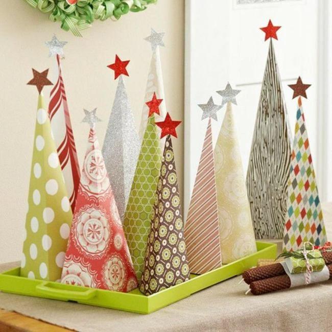 Бумажные елки из конуса