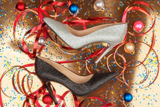 Красивые туфли на Новый год