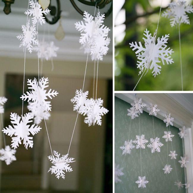 Снежинки на окна