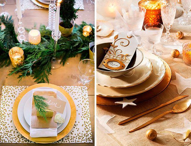 Новогодний стол сервировка украшения