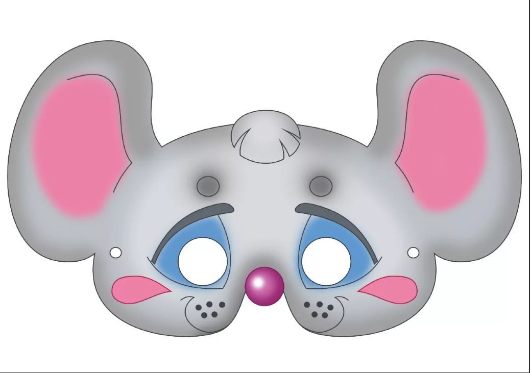 Шаблон маски крысы