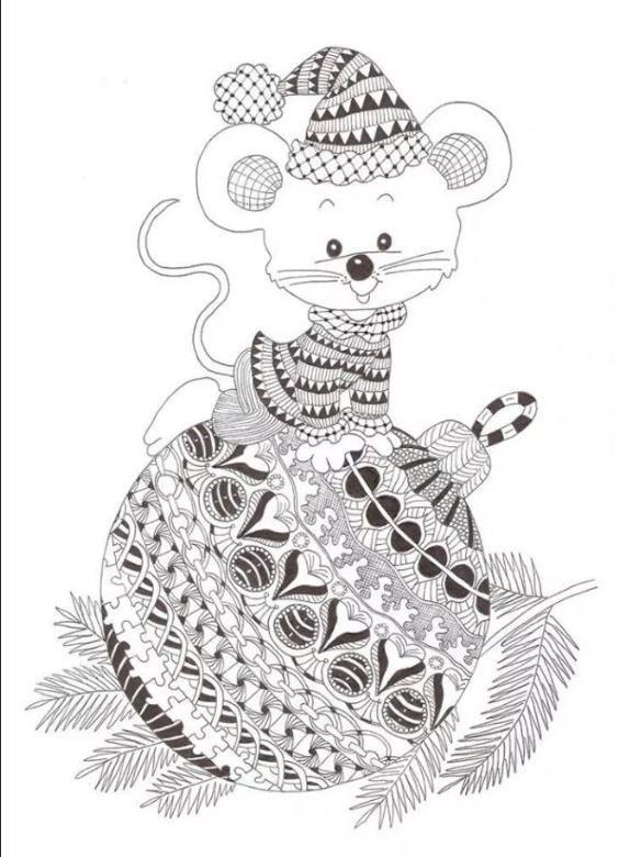 Раскраска детям мыши