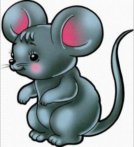 Новогодняя мышка рисунок