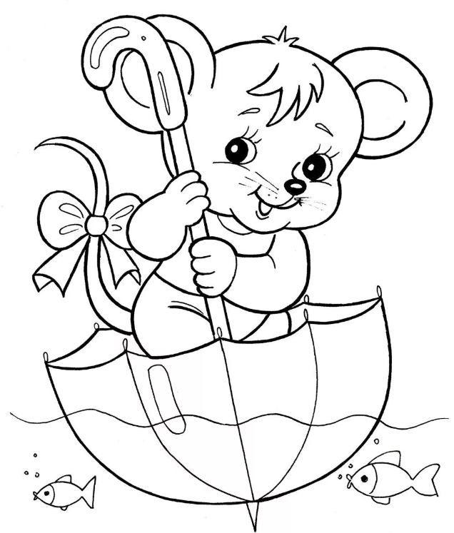 Скачать мышку раскраску