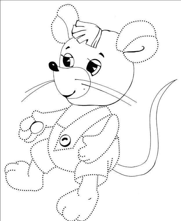Раскрашиваем крысу