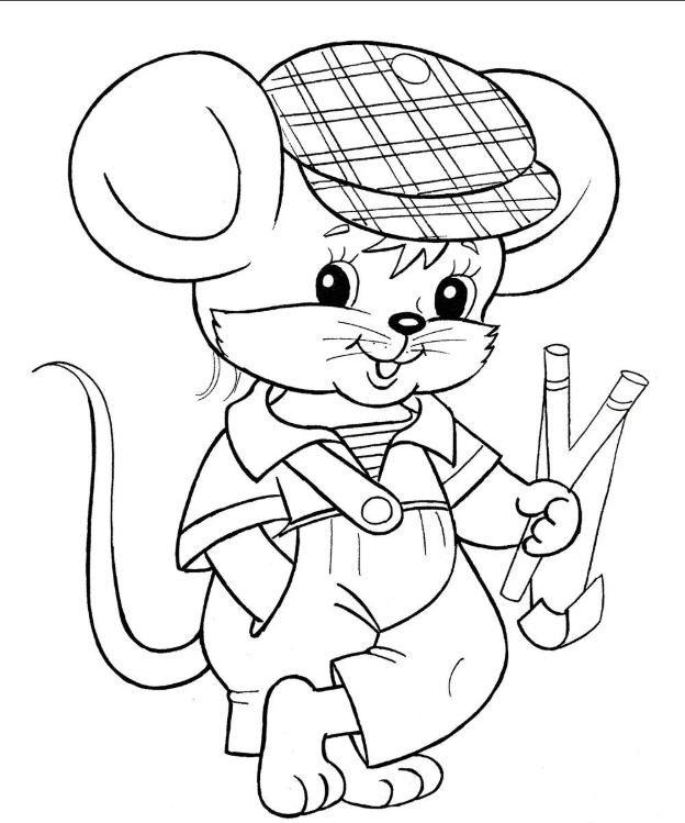 Раскраска Крысы на Новый год 2020: скачать и распечатать