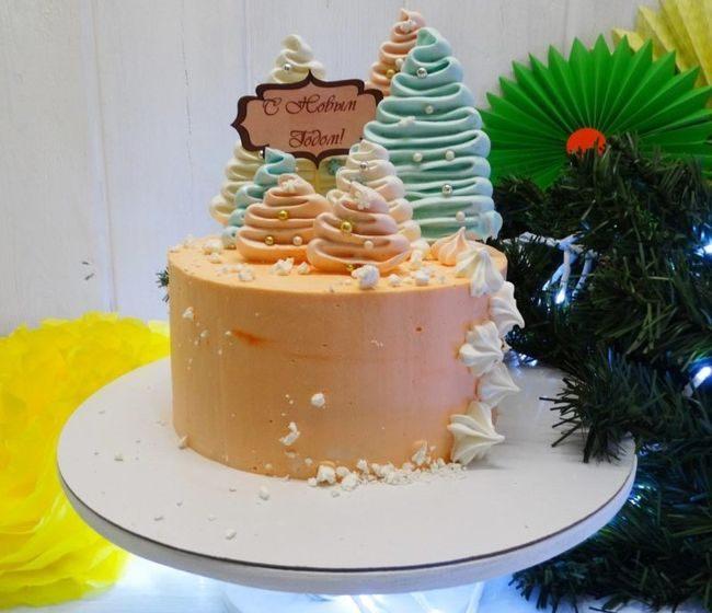 Украшение новогодних тортов - идеи