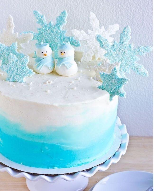 Снеговики из мастики
